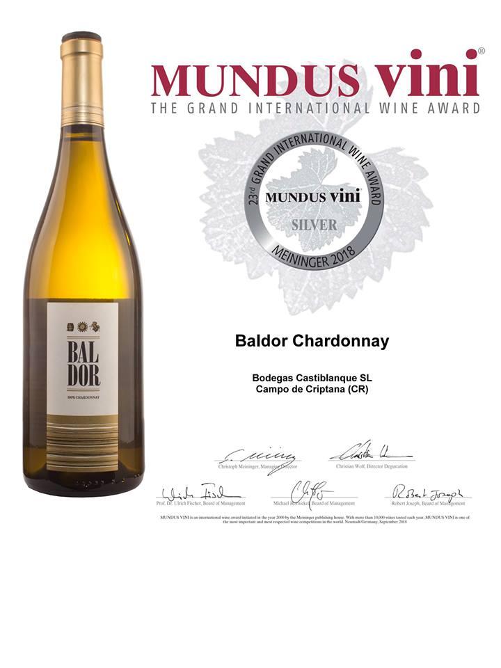 Baldor Chardonnay MUNDUS VINI Summer Tasting 2018